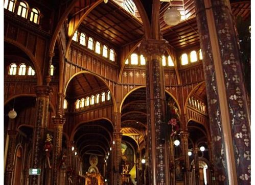 Interior of Basilica de Nuestra Senora de los Angeles, Cartago, Costa Rica