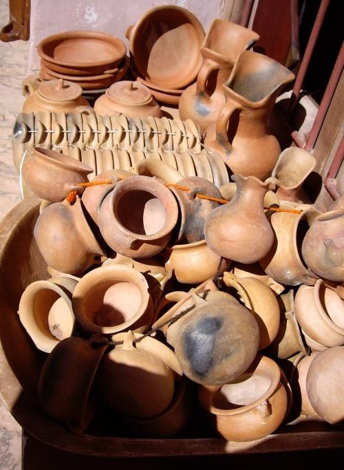 Clay pots in Purmamarca, Argentina