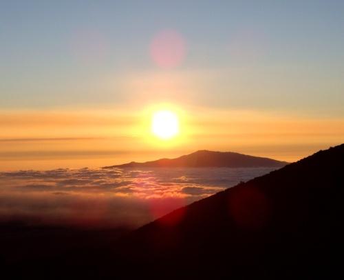 Mauna Kea sunset, Mauna Kea volcano, Kona, Hawaii
