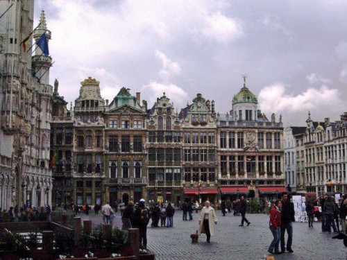 Grey Grand Place. Brussels, Belgium.