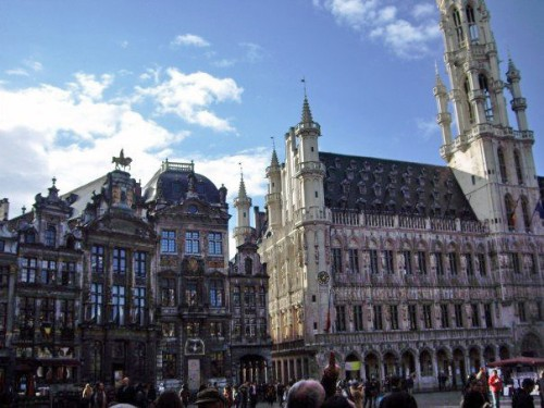Corner of Grand Place. Brussels, Belgium.