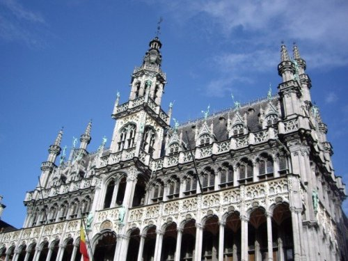 Baroque details in Grand Place. Brussels, Belgium.
