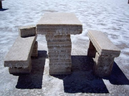 Salt table and benches