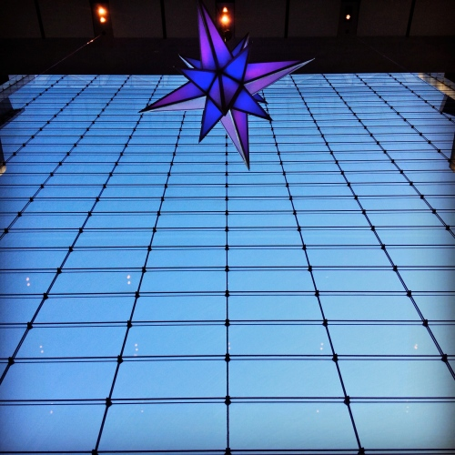 One Star and Sky. Time Warner Center window.