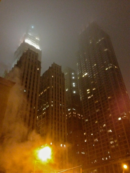 Foggy Night in Downtown NYC.