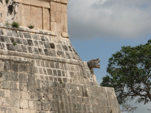 Serpent head. Chichen Itza, Mexico.