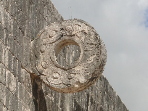 "Ball court ""hoop."" Chichen Itza."