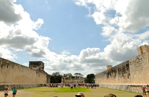 Ball Court. Chichen Itza, Mexico.