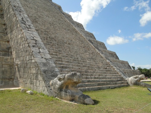 Serpent. Temple of Kukulkan. Chichen Itza.