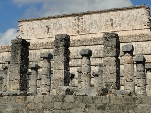 Columns. Chichen Itza.