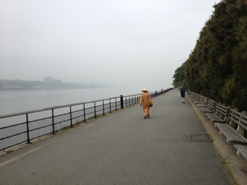 Taken while on my bike, riding north along the Hudson River.