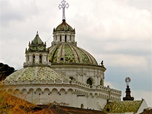 Rooftops. Old Town Quito, Ecuador.