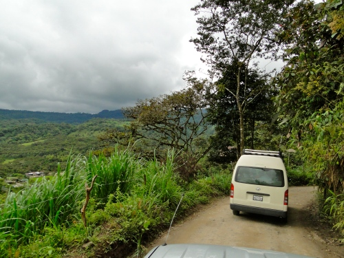 Pick-up truck rides in Mindo, Ecuador.