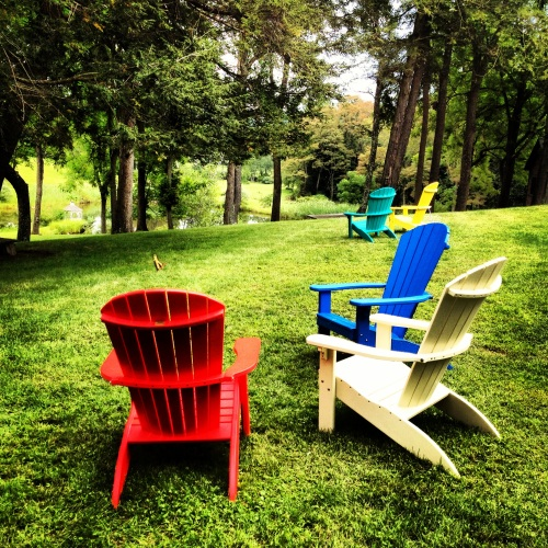Summer chairs. Stanfordville, NY.