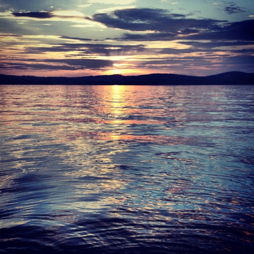 Lake Winnipesaukee sunset.