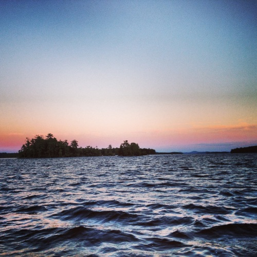 Lake sunset. New Hampshire.